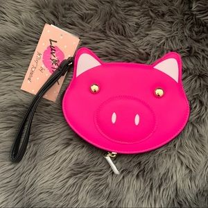 Betsey Johnson Pig Wristlet